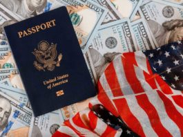 U.S. Flag and Passport
