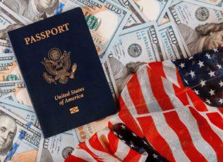 U.S. Flag and Passport